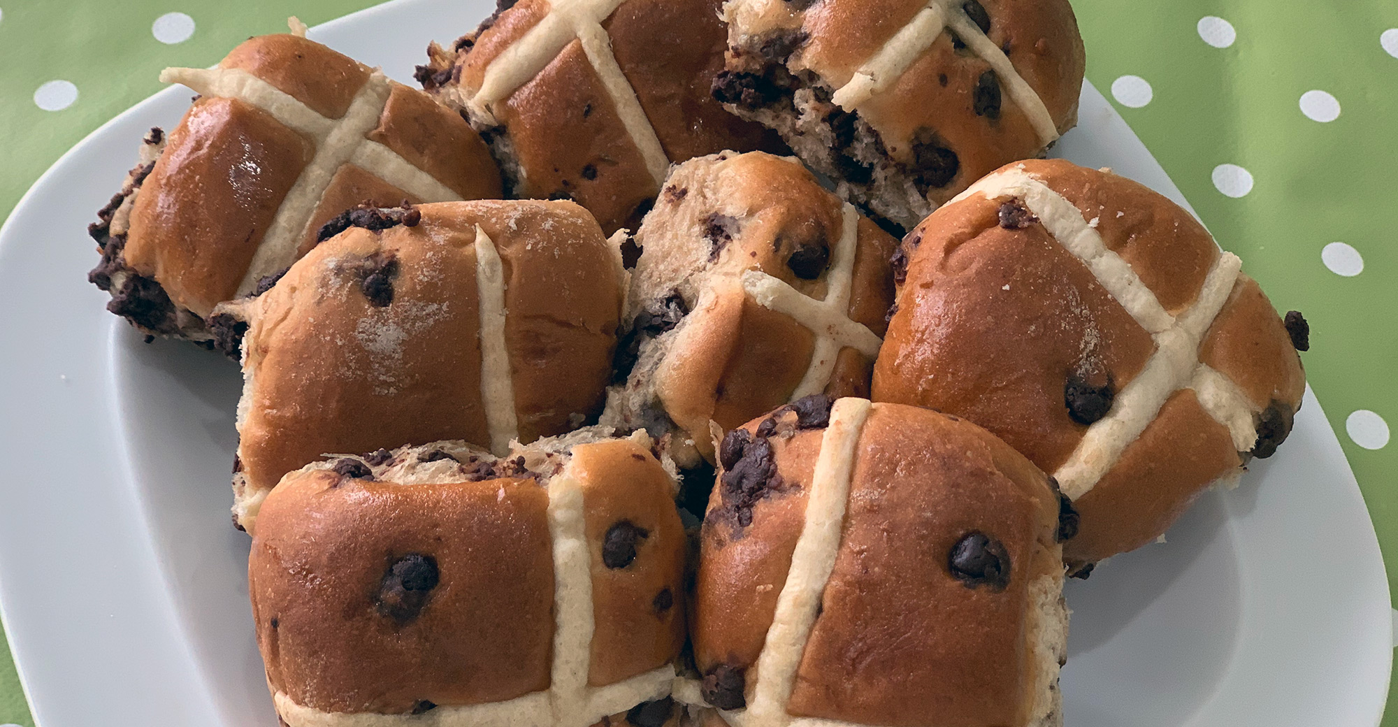 Hot cross buns banner image